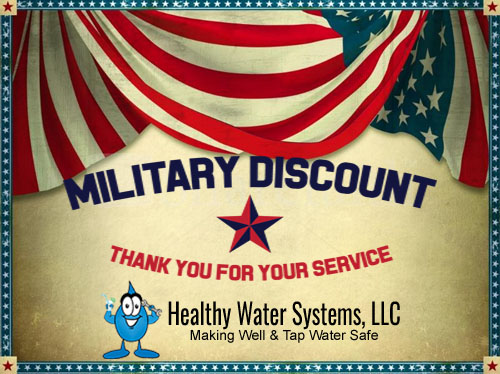 Military Discount on water treatment systems and healthy water installation services