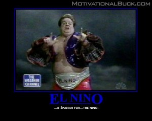 Chris Farley as El Nino